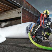 PE hab elvezető rögzítő hevederrel FANERGY ventilátorokhoz